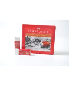 Faber Castell-20 Dust Free Erasers-Large Item No:187050