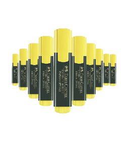 FABER-CASTELL HIGHLIGHTER 10pcs Yellow